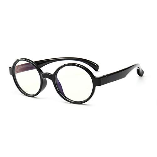 Hibote Mädchen Jungen Anti Blaulicht Brillen - Silikon - Klare Linse Gläser Rahmen Geek/Nerd Brillen mit Auto Form Brillenetui - 18083006