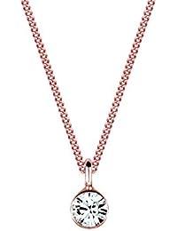 Elli Halskette Basic Solitär mit Swarovski® Kristall 925 Sterling Silber 45cm