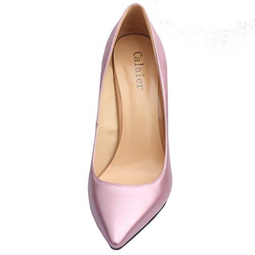 Calaier Femme Caelse Pointures Européennes 34-46 Aiguille 12CM Glisser Sur Escarpins Chaussures violet B