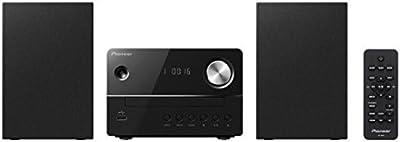 Pioneer X-EM16-B - Microcadena (radio FM, CD, USB), color negro