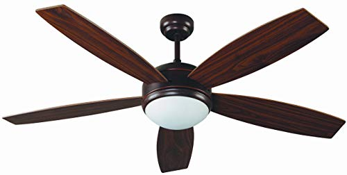 Faro Barcelona 33314 - VANU Ventilador de techo con luz 5 palas de madera accionado por mando a distancia...
