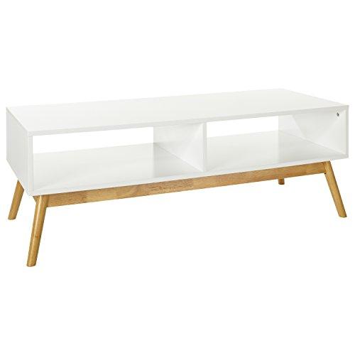"""LOMOS TV-/Lowboard """"Hilda"""" aus Holz in weiß mit zwei Fächern (L/B/H: 120x48x42cm)"""