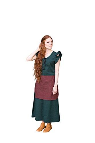 alter Frauengewand Agga mit Schürze - Grün L (Grün Mittelalterliches Kleid)