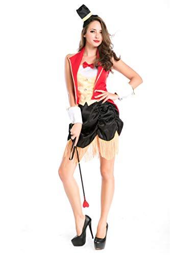 Simmia Halloween Kostüm,Halloween Männer und Frauen Liebhaber Spiel Uniformen Rolle Spielen Zirkus Magier Tier Trainer, 8709, (Zirkus Kostüm Männer)