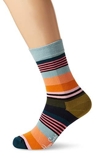 (Happy Socks Unisex Freizeitsocken Multi Stripe Sock, Gelb (Gelb 2000), 41-46)