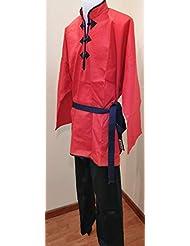 Grupo Contact Kimono de Kung-fu Chino, Color Rojo/Negro, Varias Tallas