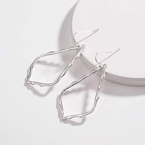 LQKLQJ Ohrringe Rahmen Teardrop Ohrringe Für Frauen Modeschmuck Malerei Metall Wassertropfen Ohrringe
