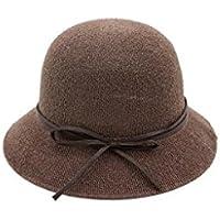 la primavera y el famoso sombrero del otoño, sombrero de señora, vintage teatrales sombreros cúpula de cubo, sombrero de paja parasol plegable