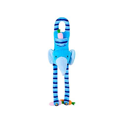 NBRTT Hängende Glocke Spiel Spielzeug Puppe Weiches Bett Rasseln Plüsch Tier Kinderwagen Kinderwagen und Buggy Kinderbett Baby Kinder Kaninchen Autositz mit Aktivität Cart,Blue - Und Kinderwagen Baby-affe-autositz