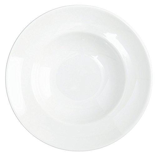 Assiette porcelaine modèle Pasta Bowl Saturnia diamètre 26cm couleur?: blanc - Lot De 6