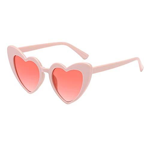 Hzjundasi Clásico Ojo de gato Retro Estilo Amor corazon Conformado Gafas de sol Salirse los ojos Estiloso UV Proteccion Polarizado Eyewear Gafas