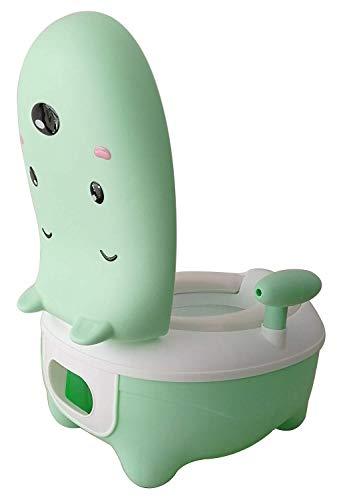 Xinfang Kinder Urinal, Töpfchen Stühle, Babytopf, Kindertopf, Töpfchen Deckel Gebaut, Hochlehner, Rutschfeste Füße, Töpfchen Stühle, Drei Farben(Green) -