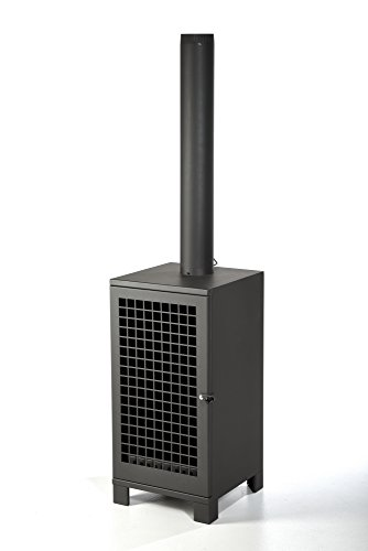 *Terrassenofen Metall ✓ Räucherkammer ✓ Thermometer ✓ Kaminrohr Gartenofen mit Räucherofen*