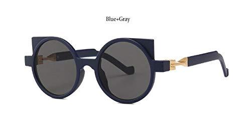 DongOJO Weinlese-Sonnenbrille-Frauen-Augen-Glas-Mode-Brillen-Sonnenbrille-weiblichesblaues Grau