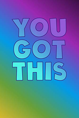 YOU GOT THIS: a150 pages Beginner friendly  Bullet Journaling Dot Grid Paper Notebook PLUS 12 SAMPLES PAGES (standard size-fits in purse)