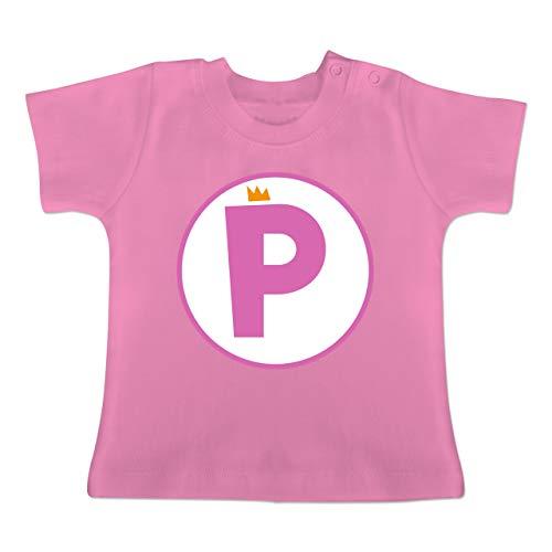 Karneval und Fasching Baby - P Spiel Kostüm Prinzessin - 3-6 Monate - Pink - BZ02 - Baby T-Shirt ()