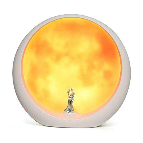 Mond-Stimmungs-Lampen-einzigartiger Jahrestags-Heirat-Valentinstag-Geschenk-Ideen Art Decoration, weiße heilige Hochzeit unter Vollmond ((Nicht wiederaufladbar)