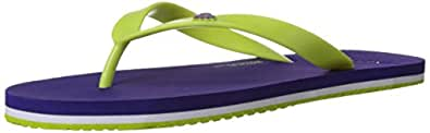 United Colors of Benetton Men's Basic 2 Purple and Lime Flip-Flops and House Slippers - 10 UK/India (44.5 EU)