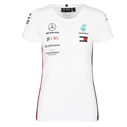 Mercedes-AMG Petronas Motorsport 2019 F1™ Camiseta del Equipo Blanca Mujer (Blanca, M)