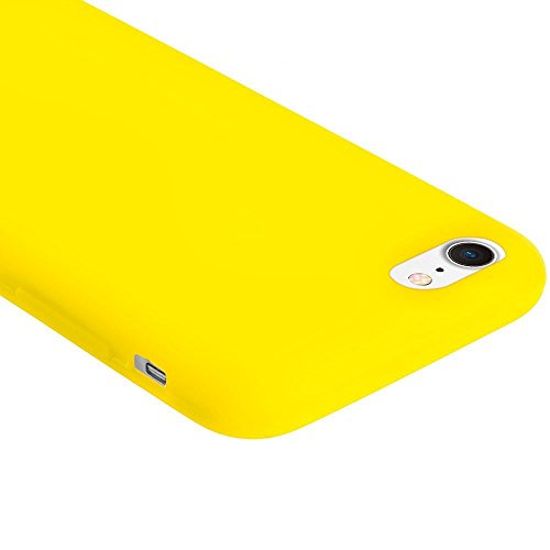 custodia silicone iphone 7 gialla