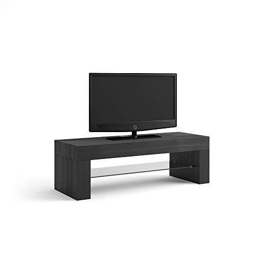 Mobili Fiver, Evolution, Meuble TV, Mélaminé, Frêne Noir, 112 x 40 x 36 cm