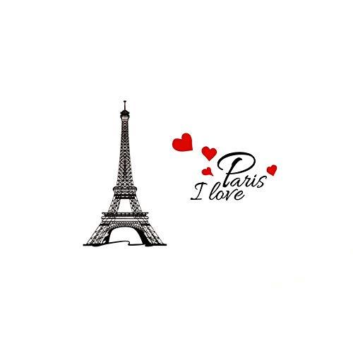 A Decal Eiffelturm I Love Paris Wandtattoo Wasserdicht Abnehmbare Wand Aufkleber Home Dekoration - Paris-wand-aufkleber