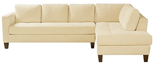 Afydecor Modern Two-Piece Sectional L Shape Sofa with a Rich Upholstery  - Off-White