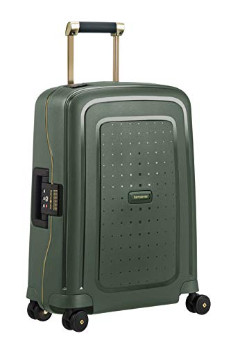 SAMSONITE S'Cure DLX Spinner 55 Equipaje de Mano, cm, 34 Liters, Verde (Dark Green/Gold Deluscious)
