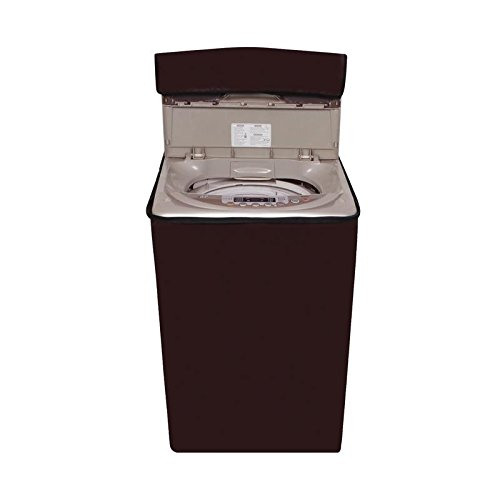 Glassiano Coffee colored washing machine cover for Panasonic 6.2 kg NA-F62B5HRB/NA-F62B3HRB Fully-Automatic Top Loading  available at amazon for Rs.399