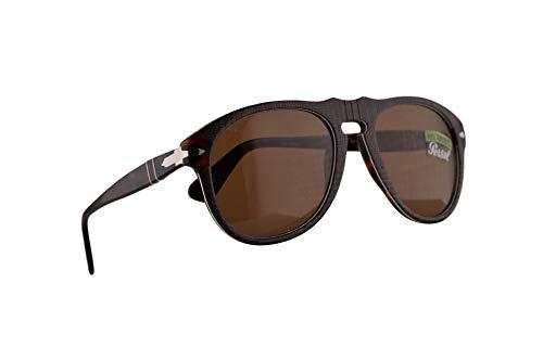 Persol 649 Sonnenbrille P.Galles Braun Mit Polarisierten Braunen Gläsern 52mm 1091AN PO 0649 PO0649 PO649