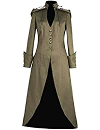 Tootlessly-Women Victorian Gown Hood Vintage Retro Trench Coat Outwear