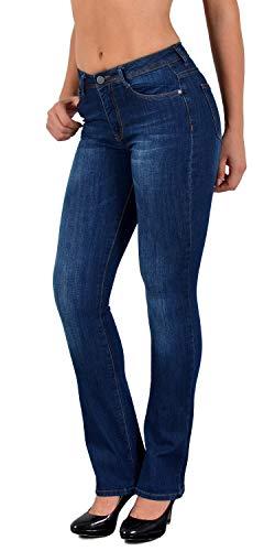 Stretch-baumwolle High-cut (Damen Bootcut Jeans High Waist Jeanshose Damen Bootcut Jeanshose Damen High Waist Jeans J287)
