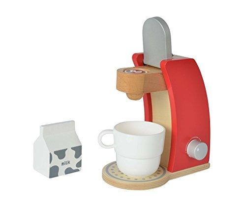 Eichhorn 100002489 - Kaffeemaschine aus Holz, inkl. Tasse, Milchbox und 1x Kaffeepad, 4-tlg.,...