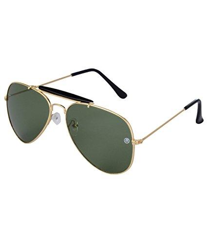 Markques Aviator Unisex Sunglasses(Vol-550814|60|Green)