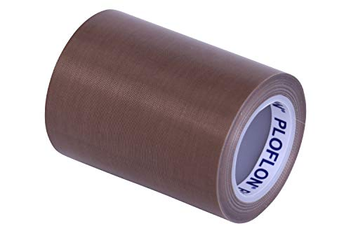 PLOFLON PTFE Teflon Klebeband, Teflonband, PTFE Band, Breite 80mm, Länge 10m, Gesamtstärke 0,145mm, antihaftende Oberfläche, Teflonklebeband, Hitzebeständigkeit bis 260 Grad Celsius. (Ptfe-teflon-band)