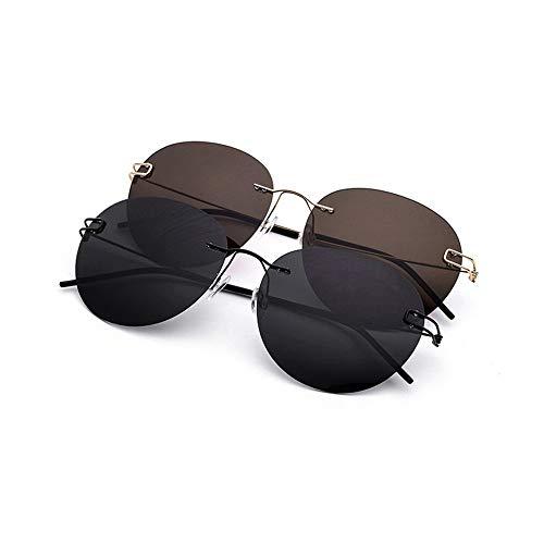 Sonnenbrillen Retro polarisierte Sonnenbrille, UV400 Objektiv Sonnenbrille für weibliche Damen Fashionwear Pop Sun Eye Glas im Freien, Fahren, Angeln (Farbe : Gold)