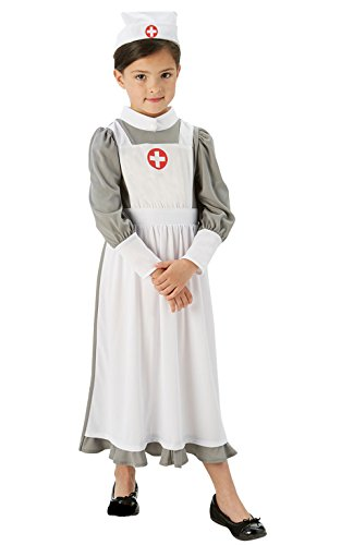 Vintage Krankenschwester Uniform (Rubies Kinder World War One Krankenschwester ersten Weltkrieges Fancy Kleid)