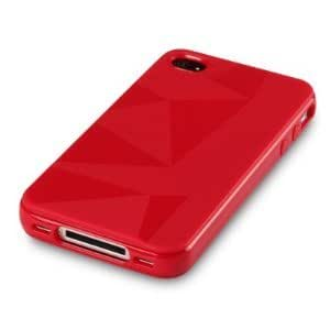 iPhone 4 4G 4GS Groovy Case Red Triangles TPU Gel Case Cover From The Keep Talking Shop iPhone 4 / 4S Accessories