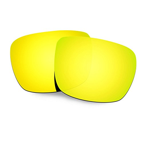 HKUCO Plus Mens Replacement Lenses For Spy Optic Helm Sunglasses 24K Gold Polarized