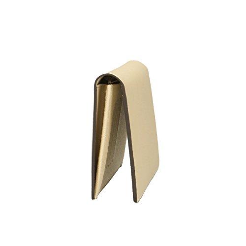 Chicca Borse Portafogli in pelle 20x10x4 100% Genuine Leather Beige