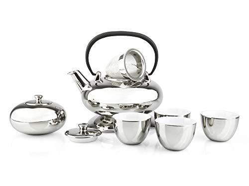 -> Tee Set Lotus Silber 10 TEILIG