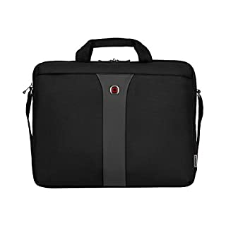 """Wenger 600654 LEGACY 17"""" MacBook Pro Slimcase , Airport friendly with iPad/Tablet / eReader Pocket in Black / Grey {9 Litres} (B002N2ZCZG) 