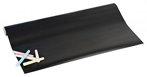 Tableau noir vinyle Autocollant Panneau Publicitaire Tableau mémo avec craie - 200 x 45 cm Kit pour beschriften