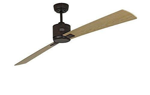 Energiespar Deckenventilator Eco Neo II 180 cm Bronze braun antik Flügel Ahorn / Buche -