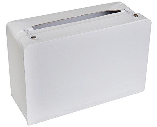 Chal - Urne tirelire valise blanche