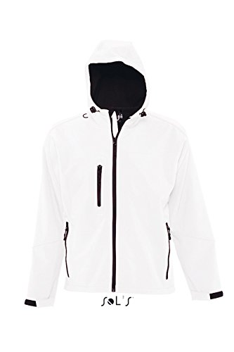 L848 Hooded Softshell Jacket Replay White
