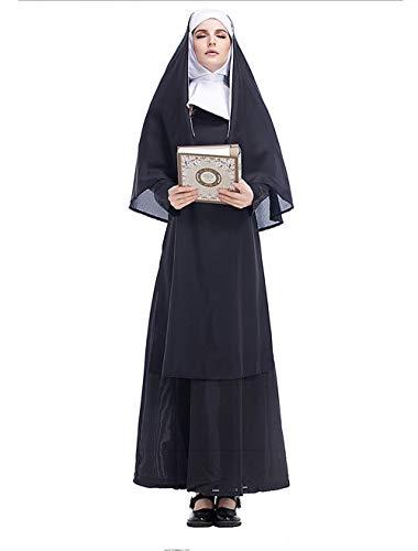 Qy Damen Halloween Kleid, Nonne Missionar, Jesus Christus, Groß, Cosplay Kostüm, Bühnenspiel, Festival Performance - Jesus Christus Kostüm
