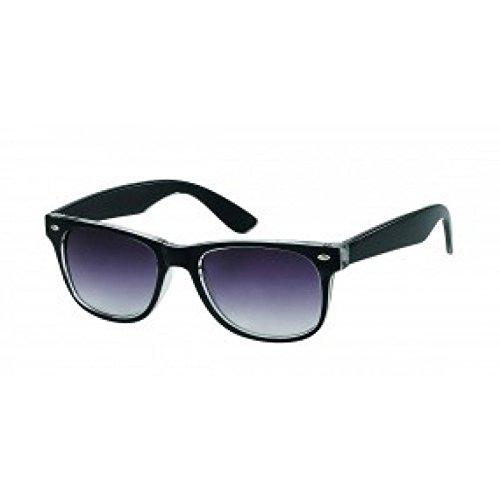 Sonnenbrille zweifarbig Unisex Nerd Brille lila getönt 400 UV Wayfarer weiß