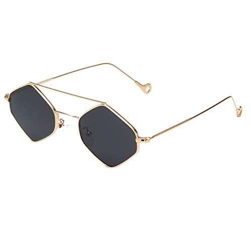 Igemy Cool Stil Metall-Rahmen Sonne Leser Brillen (Schwarz)