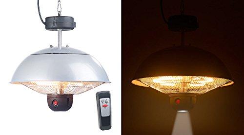 Semptec Urban Survival Technology Quarz-Heizstrahler: Infrarot-Decken-Heizstrahler m. Fernbed., 800 - 2.000 Watt, LED, IPX4 (Heizstrahler für Pavillon)
